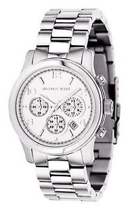 Michael Kors Mid-Size Runway Women's Chronograph Watch Steel