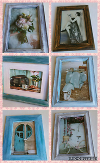 Various sizes hand made shabby chic vintage photo 4x6 in frames