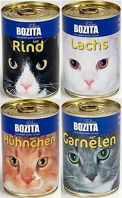 Bozita Katzenfutter 24 x 410 g Dosen Nassfutter