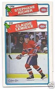1988-89 OPC Montreal Canadiens team set  (14 hockey cards)