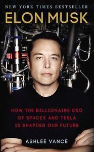 Elon Musk By Ashlee Vance Biography Tesla Paperback Book | NEW & Free Shipping
