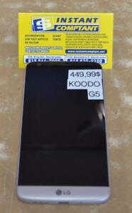 k038332 Téléphone cellulaire lg G5 avec Koodo INSTANTCOMPTANT