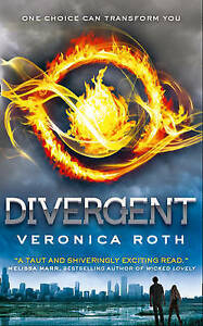 Divergent, By Veronica Roth,in Used but Acceptable condition