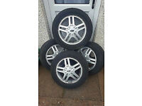 """Four 4x108 15"""" Winter Wheels - Alloys with Winter Tyres - Ford, Peugeot + Others"""