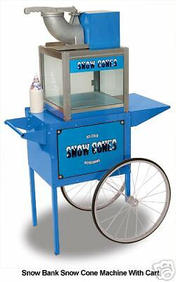Snow Bank Sno Cone Machine Maker Cart By Benchmark