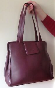 "Ladies Leather Burgundy Handbag ""Prada"" Brighton Bayside Area Preview"