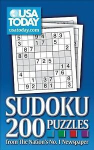 Sudoku 200 puzzles from the nation 039 s no 1 newspaper by usa today