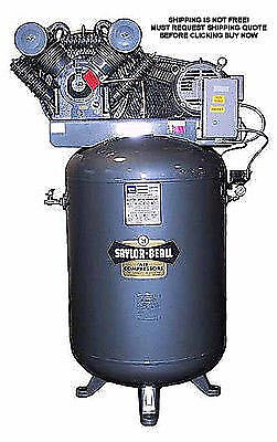 NEW Saylor Beall Vertical 10 HP Horse Power 120 Gallon Industrial Air Compressor