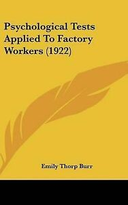 Psychological-Tests-Applied-to-Factory-Workers-1922-Hcover