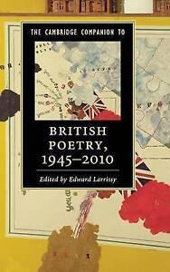 The Cambridge Companion to British Poetry, 1945-2010 by Cambridge University...