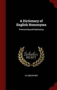 NEW A Dictionary of English Homonyms: Pronouncing and Explanatory