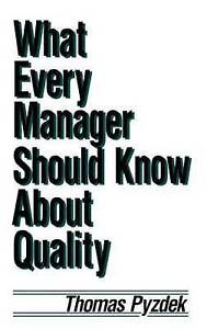 What Every Manager Should Know about Quality-ExLibrary