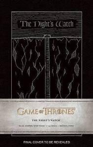 Game of Thrones Night's Watch Journal by Insight Editions NEW (Hardback, 2015)