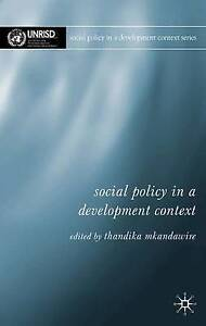 Social Policy in a Development Context, New, Mkandawire, P. Thandika Book