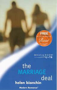 Very Good, The Marriage Deal (Mills & Boon Modern), Bianchin, Helen, Book
