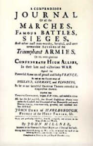 Compendious Journal of All the Marches Famous Battles & Sieges (of...