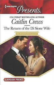 The Return of the Di Sione Wife by Crews, Caitlin -Paperback