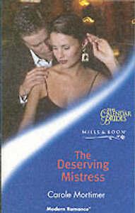 The-Deserving-Mistress-Mills-amp-Boon-Modern-Mortimer-Carole-Paperback-Book