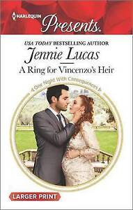 A Ring for Vincenzo's Heir by Lucas, Jennie 9780373139439 -Paperback
