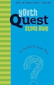 NIV, Youth Quest Study Bible, Hardcover: The Question and Answer Bible, Zonderva