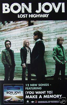 Bon Jovi  Lost Highway  U S  Promo Poster   Jon   Band