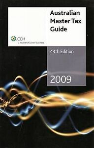 australian master tax guide 2009 by cch australia limited. Black Bedroom Furniture Sets. Home Design Ideas