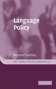 Language Policy by Bernard Spolsky (Paperback, 2003)