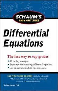 Schaum's Easy Outline of Differential Equations, Revised Edition, Bronson, Richa