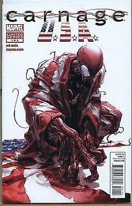 2011 Carnage USA Limited Series 1 of 5 Comic