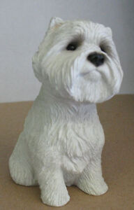 Westie Sandicast Sculptures: Snoozer,Ornament, Mid-Size & others