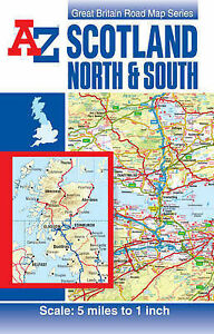 Scotland-Road-Map-reversible-A-Z-Road-Maps-Atlases-Geographers-A-Z-Map-Co