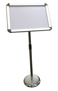"""New snap open menu stand adjustable height/orientation, 11x17"""""""
