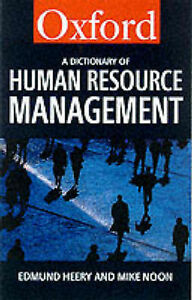 A Dictionary of Human Resource Management, Noon, Mike, Heery, Edmund, New Book