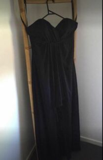 Black Strapless Formal/Bridesmaid Dress 'Alfred Angelo' Size10 S-M