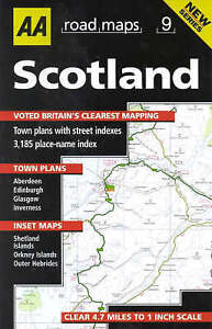 image is loading scotland aa road map britain aa publishing very