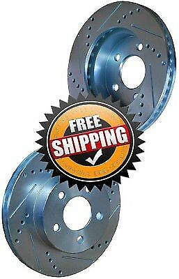 Dodge Shadow Drum 89 Drill Slot Brake Disc Rotors FRONT