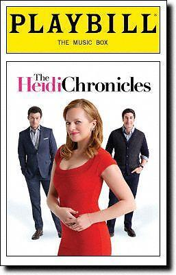 Playbill The Heidi Chronicles Elisabeth Moss  Jason Biggs Bryce Pinkham 2015 New