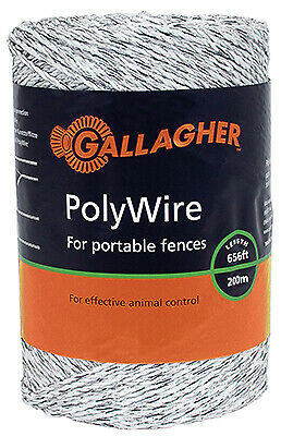 Electric Fence Polywire Ultra White 116-in. X 656-ft.