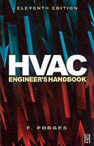 HVAC Engineer's Handbook, Acceptable, Porges, F., Book