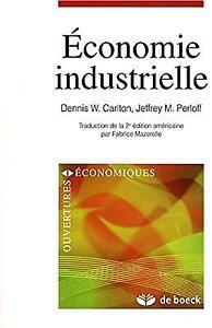 Economie industrielle 2e éd