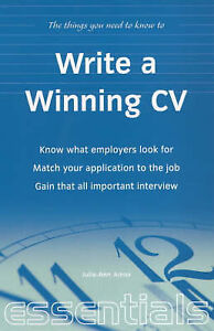 """""""VERY GOOD"""" Write a Winning Cv: know what employers look for; Match your applica"""