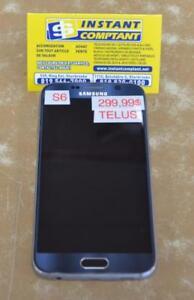 k034778 Téléphone cellulaire samsung s6 bleu avec telus INSTANTCOMPTANT