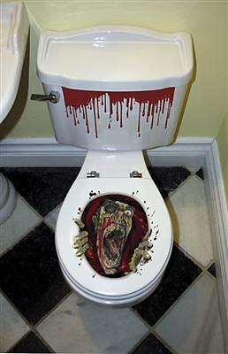 HALLOWEEN Dekoration Toiletten Sitz Grusel Zombie Themenparty Gothic