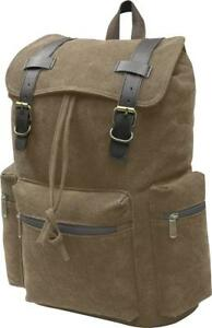 New - SAHARA RUGGED MILITARY STYLE CANVAS DAY PACK / BACKPACK --- NOT FOR NERDS !!