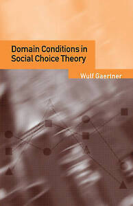 Domain Conditions in Social Choice Theory-ExLibrary