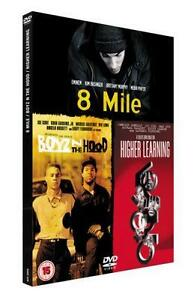 3 Film Box Set 8 Mile / Boyz N The Hood / Higher Learning DVD Movie Region 2 New