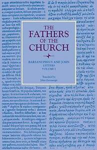 Letters, Volume 1 by Barsanuphius and John -Paperback