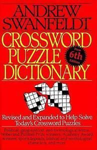Crossword Puzzle Dictionary: Sixth Edition by Andrew Swanfeldt