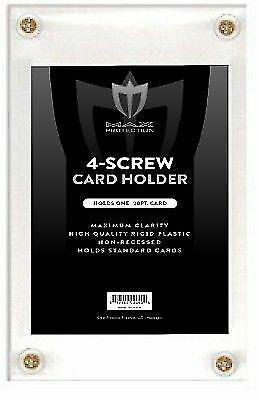 Lot of 5 Max Pro 4-Screw NON-RECESSED Baseball Trading Card Screwdown Holders ()