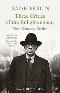BERLIN,ISAIAH-THREE CRITICS OF THE ENLIGHTENMEN  BOOK NEW
